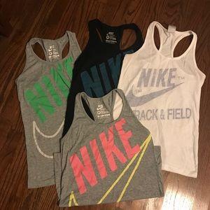 4 Nike Workout Tank tops- size medium